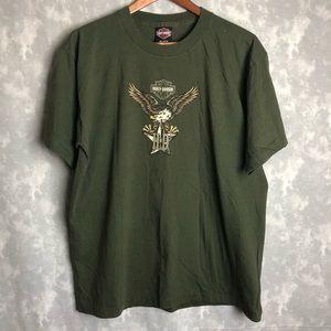 Harley Davidson green Fullerton CA T-shirt
